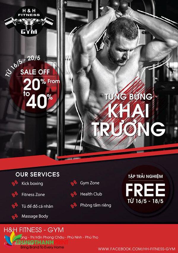 Thiet ke poster quang cao phong gym - thu hut khach hang