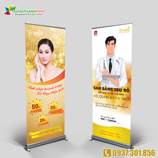 Co so cung cap standee cho spa gia re